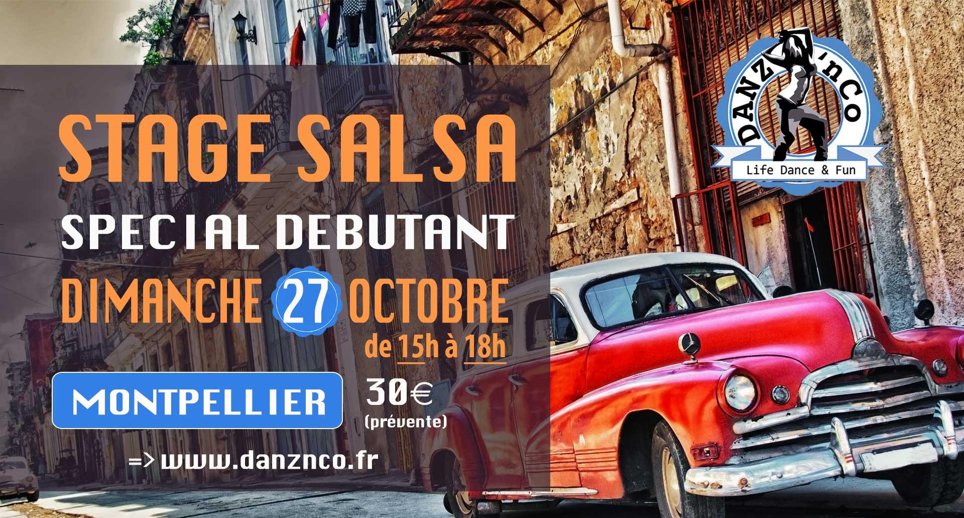 STAGE salsa OCTOBRE montpellier ecole de danse danznco