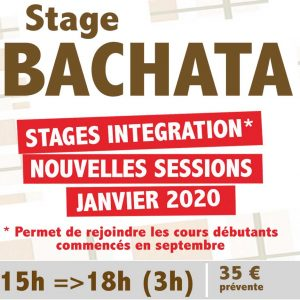sTAGE Bachata montpellier debutant janvier